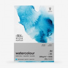 Winsor & Newton : Classic : Watercolour Paper : Gummed Pad : 300gsm : 12 Sheets : Cold Pressed : A4