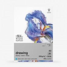 Winsor & Newton : Heavy Weight Drawing : Cartridge Gummed Pad : 220gsm : Medium : 25 Sheets : A3