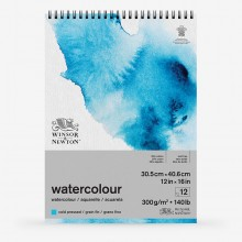 Winsor & Newton : Classic : Watercolour Paper : Spiral Pad : 300gsm : 12 Sheets : Cold Pressed : 12x16in