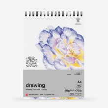Winsor & Newton : Drawing : Cartridge Spiral Pad : 150gsm : Smooth : 25 Sheets : A4