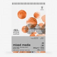 Winsor & Newton : Mixed Media Pad : 250gsm : 30 Sheets : A3