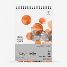 Winsor & Newton : Mixed Media Pad : 250gsm : 30 Sheets : A4