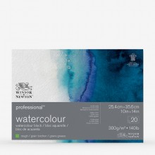Winsor & Newton : Professional : Watercolour Paper Block : 300gsm : 20 Sheets : 10x14in : Rough