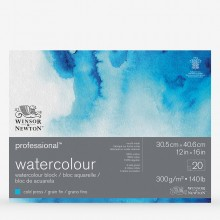 Winsor & Newton : Professional : Watercolour Paper Block : 300gsm : 20 Sheets : 12x16in : Cold Pressed