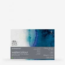 Winsor & Newton : Professional : Watercolour Paper Block : 300gsm : 20 Sheets : 7x10in : Rough