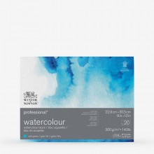 Winsor & Newton : Professional : Watercolour Paper Block : 300gsm : 20 Sheets : 9x12in : Cold Pressed