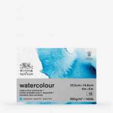 Winsor & Newton : Classic : Watercolour Paper : Postcard Pad : 300gsm : 15 Sheets : Cold Pressed : A6