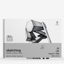 Winsor & Newton : Spiral Cartridge Sketching Pad : 110gsm : 50 Sheets : A2