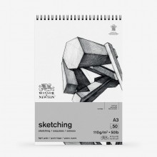 Winsor & Newton : Spiral Cartridge Sketching Pad : 110gsm : 50 Sheets : A3
