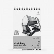 Winsor & Newton : Spiral Cartridge Sketching Pad : 110gsm : 50 Sheets : A4