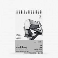 Winsor & Newton : Spiral Cartridge Sketching Pad : 110gsm : 50 Sheets : A5