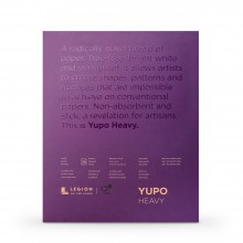 Yupo : Heavy Watercolour Paper Pad : 144lb (390gsm) : 11x14in : 10 Sheets : White