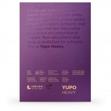 Yupo : Heavy Watercolour Paper Pad : 144lb (390gsm) : 5x7in : 10 Sheets : White