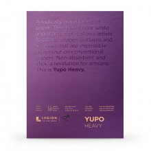 Yupo : Heavy Watercolour Paper Pad : 144lb (390gsm) : 9x12in : 10 Sheets : White