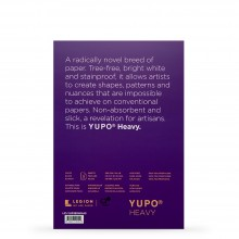 Yupo : Heavy Watercolour Paper Pack : 144lb (390gsm) : A5 : 5 Sheets : White