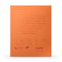 Yupo : Medium Watercolour Paper Pad : 74lb (200gsm) : 11x14in : 10 Sheets : White