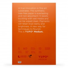Yupo : Medium Watercolour Paper Pack : 74lb (200gsm) : A3 : 10 Sheets : White