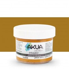 Akua : Intaglio Ink : 2oz : 59ml : Yellow Ochre