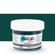 Akua : Intaglio Ink : 2oz : 59ml : Phthalo Green