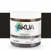 Akua : Intaglio Ink : 8oz : 236ml : Graphite Gray