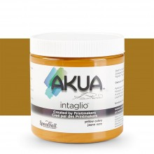 Akua : Intaglio Ink : 8oz : 236ml : Yellow Ochre