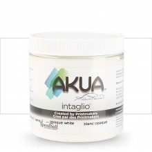Akua : Intaglio Ink : 8oz : 236ml : Opaque White