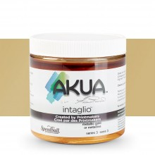 Akua : Intaglio Ink : 8oz : 236ml : Metallic Gold