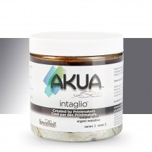 Akua : Intaglio Ink : 8oz : 236ml : Metallic Silver