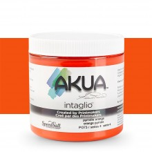 Akua : Intaglio Ink : 8oz : 236ml : Pyrrole Orange