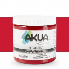 Akua : Intaglio Ink : 8oz : 236ml : Crimson Red