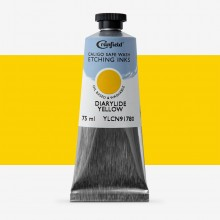 Cranfield : Caligo : Safe Wash : Etching Ink : 75ml : Diarylide Yellow