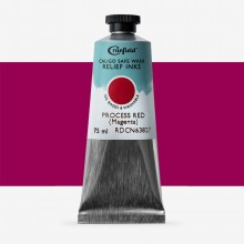 Cranfield : Caligo : Safe Wash : Relief Ink : 75ml : Process Red (Magenta)