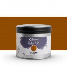 CRANFIELD : Traditional Relief Ink : 500g : Raw Sienna
