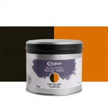 CRANFIELD : Traditional Relief Ink : 500g : Deep Yellow (Diarylide)