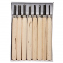 JAS : Wood Cut Knife : Set of 8