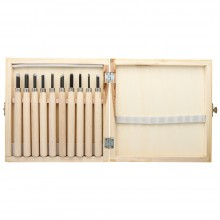 JAS : Wood Cut Knife : Wooden Box Set of 10