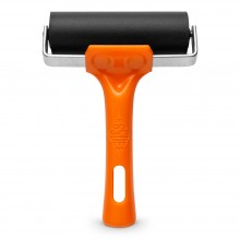 Essdee : Soft Roller / Brayer (Orange Handle) : 25 Shore : 100mm