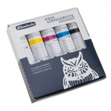 Schmincke : Aqua Linoprint Set : 5x20ml Tubes