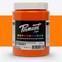 Permaset : Aqua Screenprinting Fabric : Supercover : 300ml : Orange