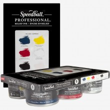 Speedballl : Professional Relief Ink : 8oz (236.5ml) : Set of 6
