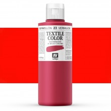 Vallejo : Textile Paint : 200ml : Vermillion