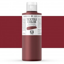 Vallejo : Textile Paint : 200ml : Dark Burgundy