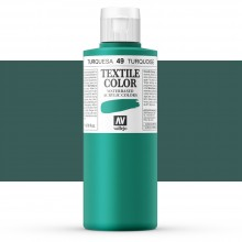 Vallejo : Textile Paint : 200ml : Turquoise (Duck Blue)