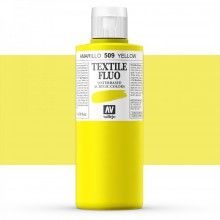 Vallejo : Textile Paint : 200ml : Fluorescent Yellow