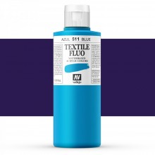 Vallejo : Textile Paint : 200ml : Fluorescent Blue