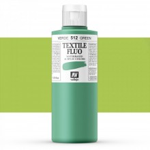 Vallejo : Textile Paint : 200ml : Fluorescent Green
