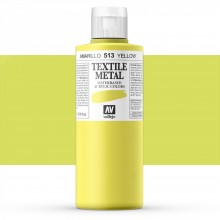 Vallejo : Textile Paint : 200ml : Metallic Yellow Pearl
