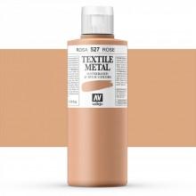 Vallejo : Textile Paint : 200ml : Metallic Rose Pearl