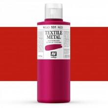 Vallejo : Textile Paint : 200ml : Metallic Red
