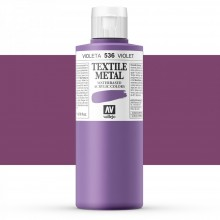 Vallejo : Textile Paint : 200ml : Metallic Violet Pearl